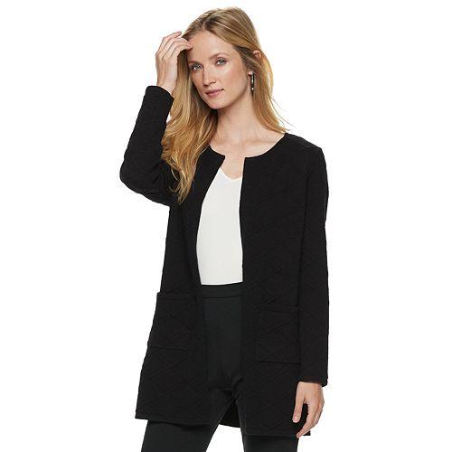 Women's ELLE™ Textured Open-Front Cardigan
