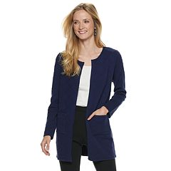Women's ELLE™ Textured Open-Front Cardigan