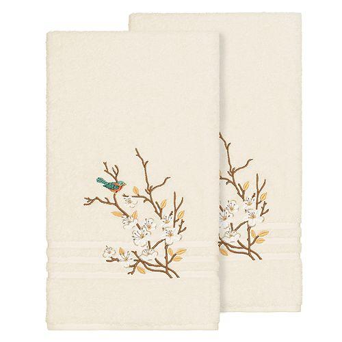Linum Home Textiles Turkish Cotton Spring Time Embellished Bath Towel Set