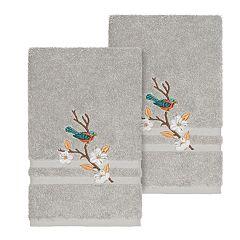 Linum Home Textiles Turkish Cotton Spring Time Embellished Hand Towel Set