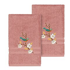 Linum Home Textiles Turkish Cotton Spring Time Embellished Hand Towel Set