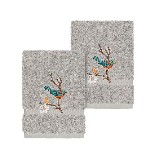 Linum Home Textiles Turkish Cotton Spring Time Embellished Washcloth Set