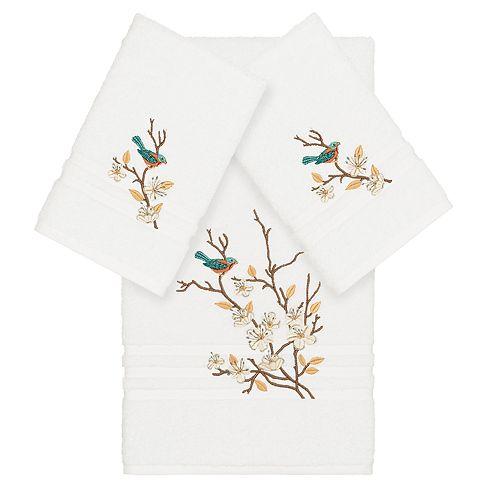 Linum Home Textiles Turkish Cotton Spring Time 3-piece Embellished Towel Set