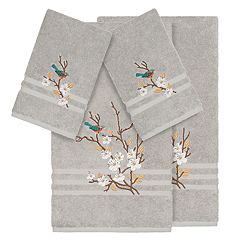 Linum Home Textiles Turkish Cotton Spring Time 4-piece Embellished Towel Set