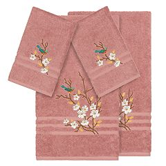 Linum Home Textiles Turkish Cotton Spring Time 4-piece Embellished Towel Set