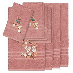 Linum Home Textiles Turkish Cotton Spring Time 8-piece Embellished Towel Set