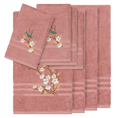 Linum Home Textiles Turkish Cotton Spring Time 8-piece Embellished Towel Set