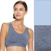 Fruit of the Loom Bras: Ultra Flex 2-pack Crop Top Low-Impact Sports Bra 2DDFBRA