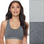 Women's Fruit of the Loom® Signature Bras: Ultra Flex 2-pack Crop Top Low-Impact Sports Bra 2DDFBRA