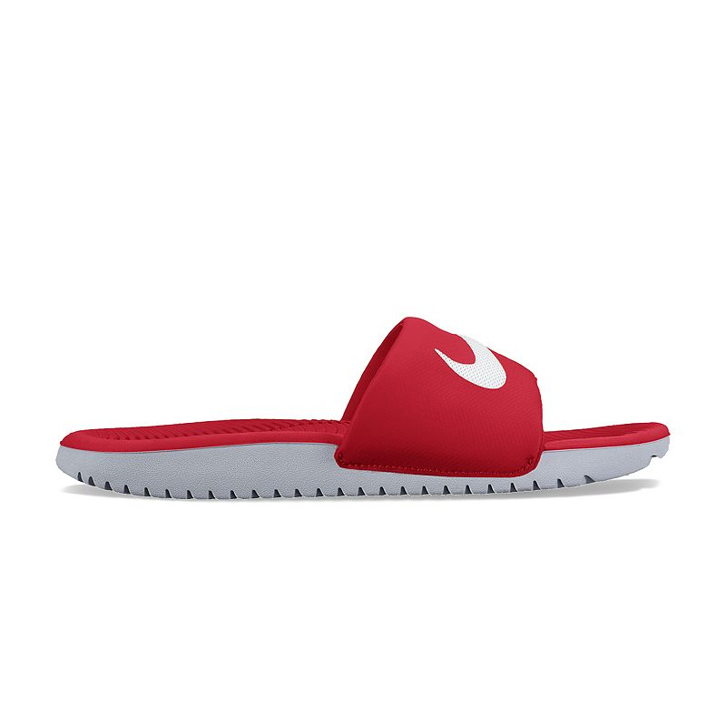 2b735a91047ff7 UPC 676556480537 - Boy s Nike Kawa (GS) Slide University Red White ...