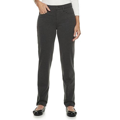 Women's Croft & Barrow® Easy Care Straight-Leg Pants