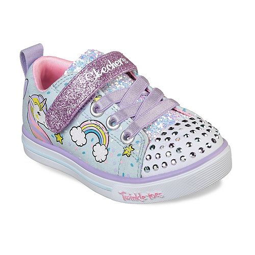 Skechers Twinkle Toes Shuffles Sparkle Lite Toddler Girls' Light Up Shoes