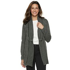 Women's Croft & Barrow® Cozy Jacquard Open-Front Cardigan