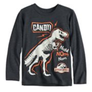 "Boys 4-12 Jumping Beans® Jurassic World Glow in the Dark Dinosaur ""Candy!"" Graphic Tee"