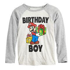 Boys 4-12 Jumping Beans® Super Mario Bros. 'Birthday Boy' Raglan Graphic Tee