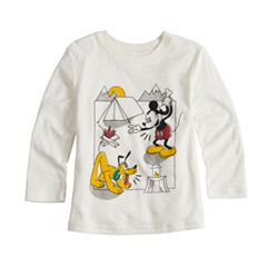 Disney's Mickey Mouse & Pluto Baby Boy Camping Slubbed Graphic Tee by Jumping Beans®