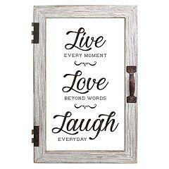 Stratton Home Decor 'Live Love Laugh' Wall Decor