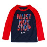 "Toddler Boy Nike Dri-FIT ""Must Not Stop"" Raglan Tee"