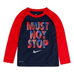 Toddler Boy Nike Dri-FIT 'Must Not Stop' Raglan Tee