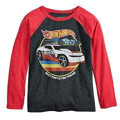 Boys 4-12 Jumping Beans® Hot Wheels 'Race You To The Finish' Retro Raglan Graphic Tee