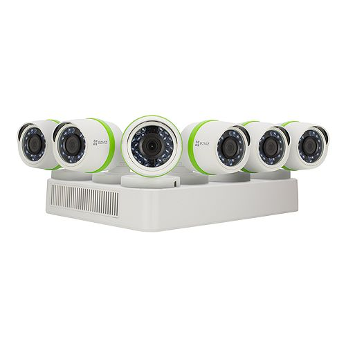EZVIZ Everyday 8-Channel 1080p 2 TB DVR with 1080p Outdoor Bullet Cameras 6-Pack