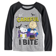"Boys 4-12 Jumping Beans® Peanuts Snoopy & Charlie Brown ""Be Careful I Bite"" Raglan Tee"