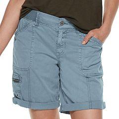 Petite SONOMA Goods for Life™ Ultra Comfort Waistband Utility Bermuda Shorts