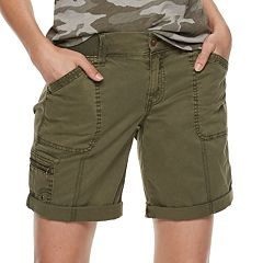 Petite SONOMA Goods for Life™ Ultra Comfort Waistband Utility Bermuda Shorts