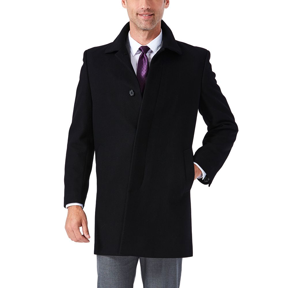 Big & Tall Ike Behar Classic-Fit Wool-Blend Top Coat