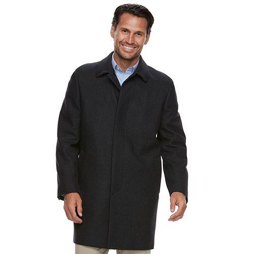 Big & Tall Ike Behar Classic-Fit Wool-Blend Top Coat