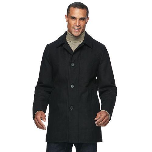 Big & Tall Ike Behar Seville Classic-Fit Wool-Blend Top Coat