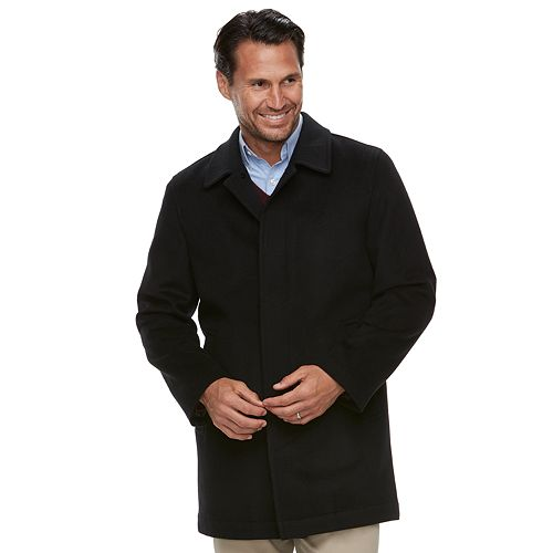 Men's Ike Behar Classic-Fit Cashmere-Blend Top Coat
