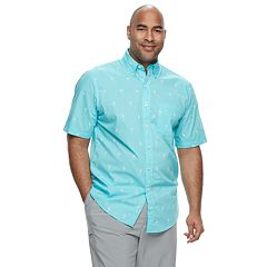 Big & Tall IZOD Saltwater Dockside Classic-Fit Chambray Button-Down Shirt