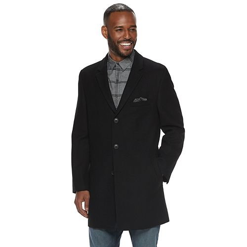 Men's Nick Graham Modern-Fit Wool-Blend Top Coat