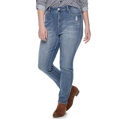 Juniors' Plus Size Indigo Rein Midrise Ankle Jeans