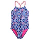 Girls 7-16 SO® Flower & Braided One-Piece Swimsuit