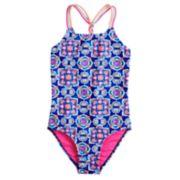 Girls 7-16 SO® Flower & Braided One-Piece Swimsuit