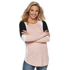 Juniors' Miss Chievous Cozy Colorblock Tunic