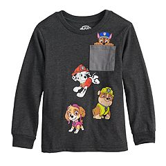 Toddler Boy Paw Patrol Chase, Skye, Marshall & Rubble Pocket Graphic Tee