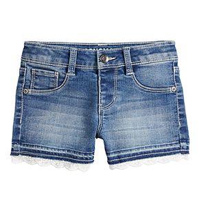 Girls 4-12 SONOMA Goods for Life? Crochet-Hem Denim Shortie Shorts