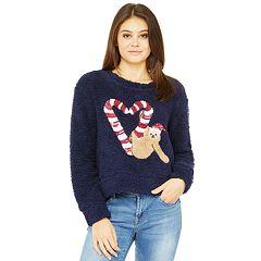 Juniors' Wallflower Holiday Sherpa Pullover Top