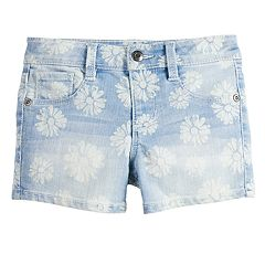 Girls 4-12 SONOMA Goods for Life™ Floral Denim Shortie Shorts