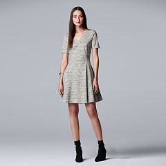 Women's Simply Vera Vera Wang V-Neck Fit & Flare Dress