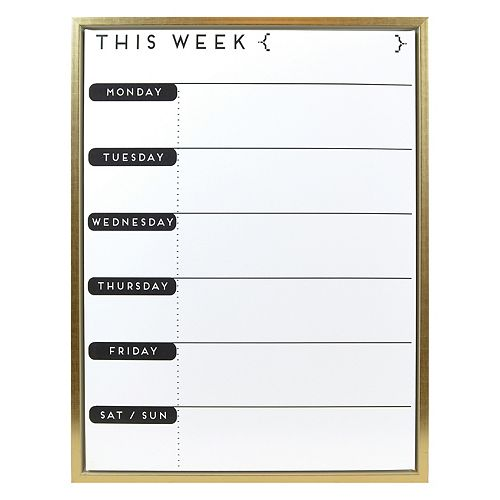 "Belle Maison ""This Week"" Magnetic Dry Erase Memo Board Wall Decor"