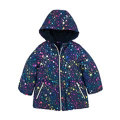 Toddler Girl Skechers Heavyweight Foiled Star Puffer Jacket