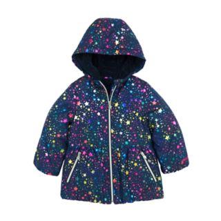 Toddler Girl Skechers Heavyweight Foiled Star Puffer Jacket