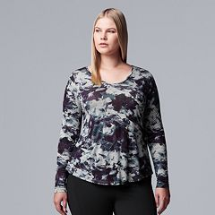 0daabbdd82d Plus Size Simply Vera Vera Wang Printed Top
