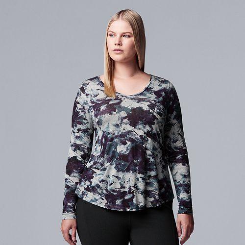 Plus Size Simply Vera Vera Wang Printed Top