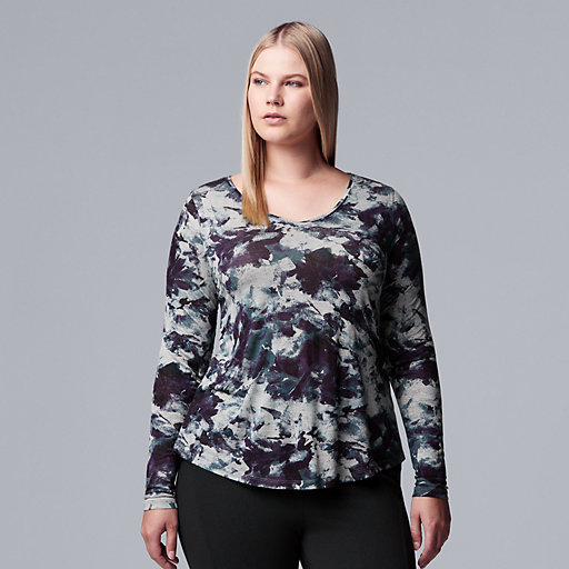 0a017deed Short Sleeve Tops. Shirts & Blouses. Workout Tops. Plus Size Simply Vera  Vera Wang Printed Top