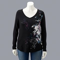 Plus Size Simply Vera Vera Wang Printed Top